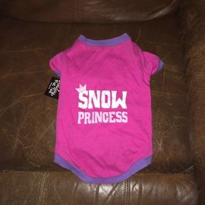 Snow Princess Pet Tshirt Sz Medium NWT
